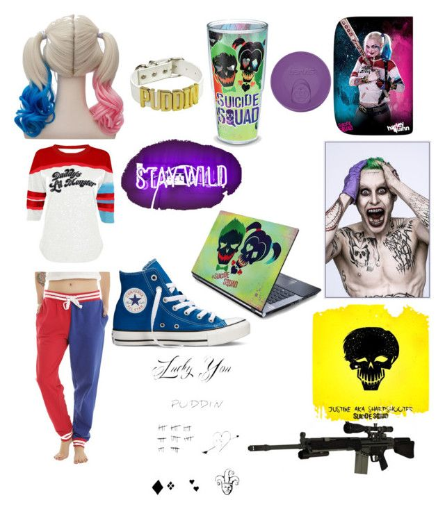 """""""#SUISIDE SQUADE"""" by redvelvit ❤ liked on Polyvore featuring art"""