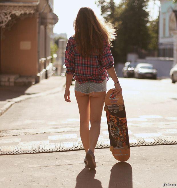 девушки скейтборд
