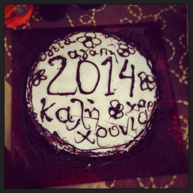 Happy new year handmade cake