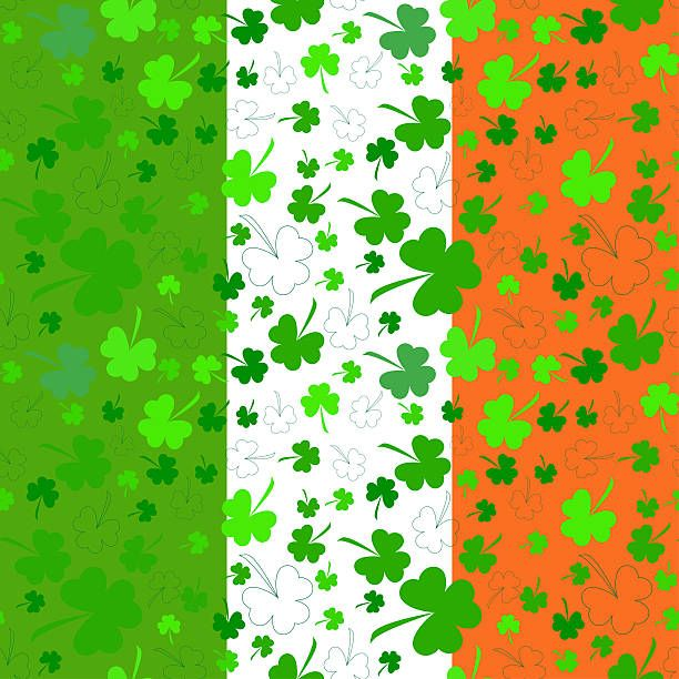 Vertical Clovers Background For Happy St Patrick S Day