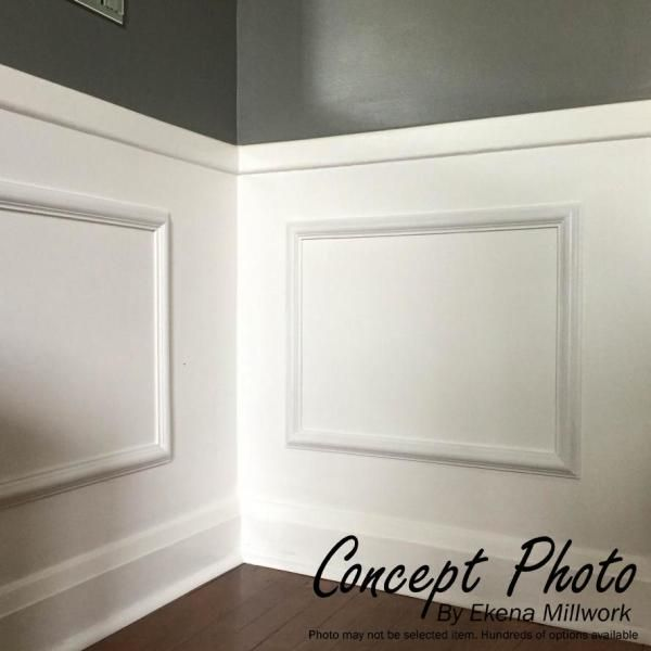 Ekena Millwork 16 In W X 20 In H X 1 2 In P Ashford Molded Classic Wainscot Wall Panel Pnl16x20as 01 The Home Depot In 2020 Picture Frame Molding Wall Panel Molding Wall Paneling