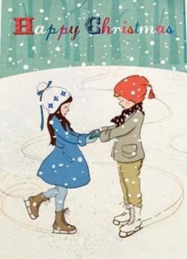 Belle & Boo `Kerstkaart Shall We Skate`