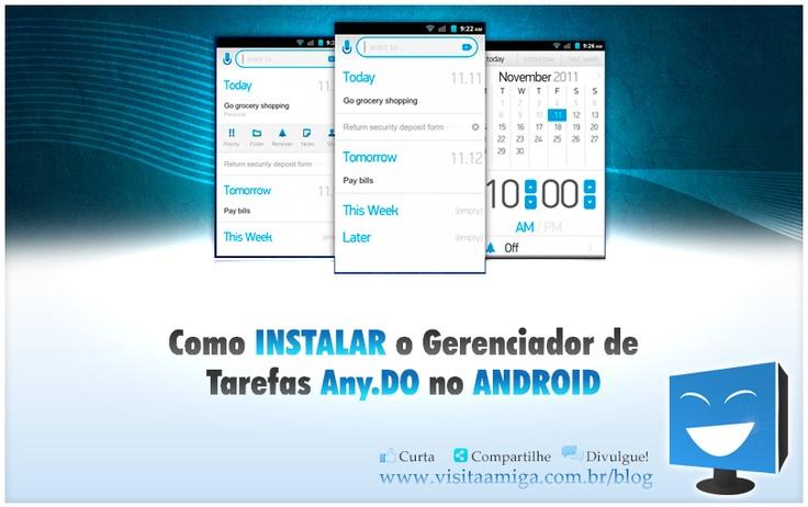 Como instalar o Gerenciador de Tarefas #Any DO no #Android.