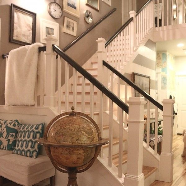Inspired room staircase. Enclosed steps.