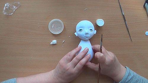 Видео курс «Кукла Жизель в технике грунтованный текстиль»