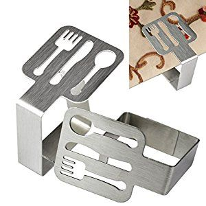 Amazon.com: 4pcs Tablecloth Clip, Jmkcoz Stainless Steel Tablecloth Clips Tablecover Clips Table Cloth Holders Clamp: Home & Kitchen