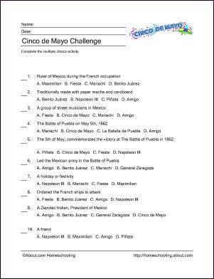 Cinco de Mayo Printables: Cinco de Mayo Challenge