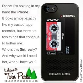 Diane, Dale Cooper's Tape Recorder Twin Peaks iPhone Samsung Case