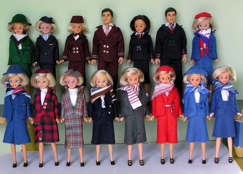 All our Airline and Shipping Daisy style dolls.
