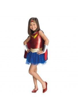 Disfraz de #WonderWoman #Tutu para niña. Nuevo en la sección #Disfraces con Tutu ;)