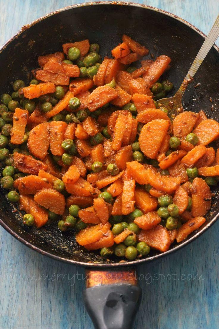 Merry Tummy: Gajar Mutter, Carrot Peas Stiry fry: #Indian Side Dish #indianfood #foodporn