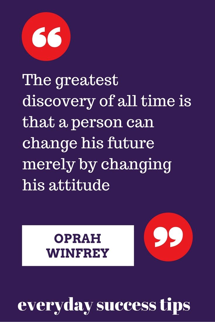 I love this quote from Oprah Winfrey about positive change #Oprah #positivechange #attitude