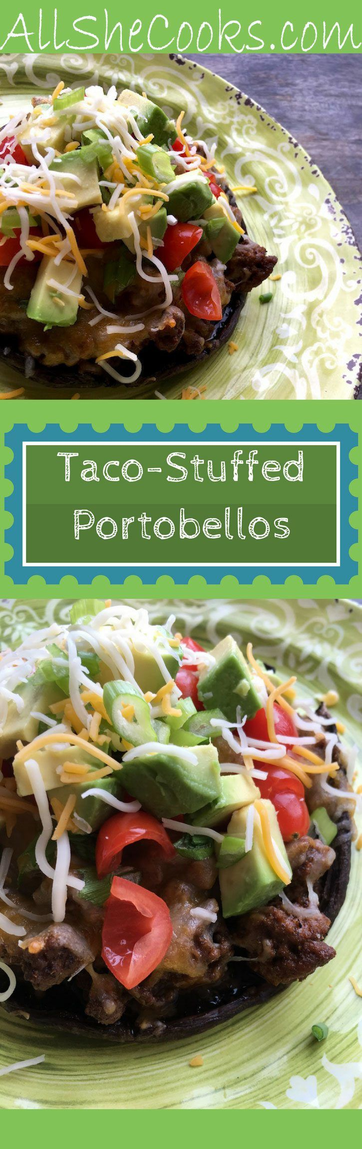 Enjoy Taco Stuffed Portobello Caps for a healthy meal. Eating healthy with a variety of low-fat recipes is a good way to stay on track with you health goals.