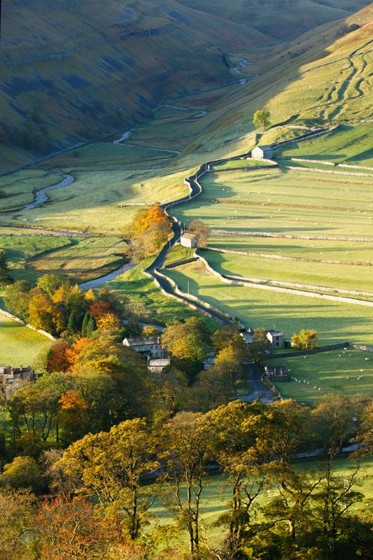 Autumn across the Arncliffe, Littondale, North Yorkshire Dales