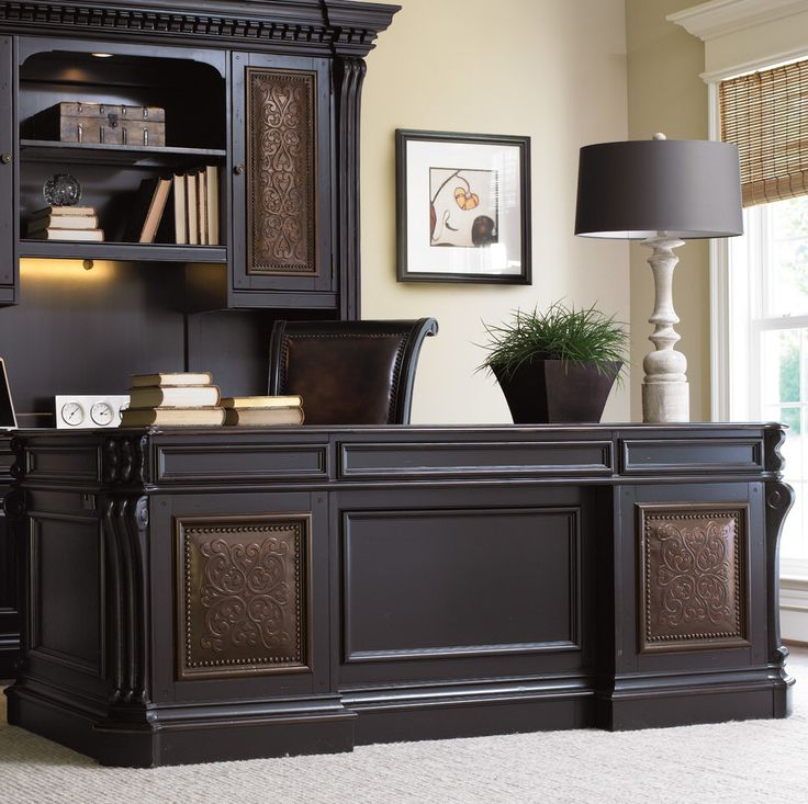 Warm Cherry Executive Desk Home Office Collection: 1000+ Ideas About Double Desk Office On Pinterest