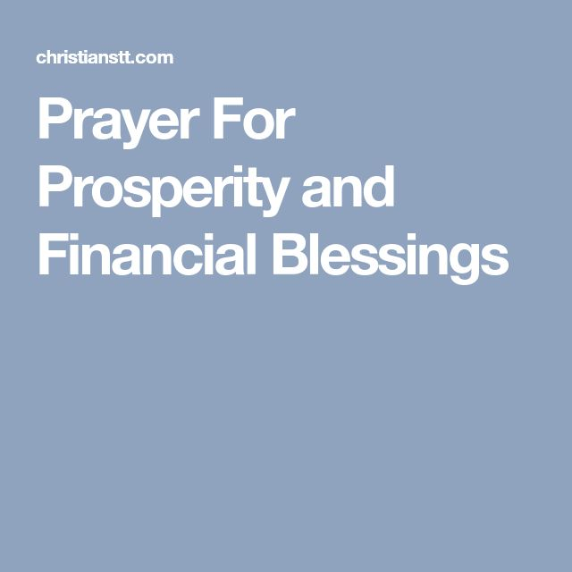 Prayer For Prosperity and Financial Blessings