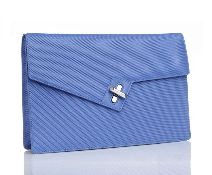 SOULMATE CLUTCH CLASSIC - BLUE MICRO PERFORATED -