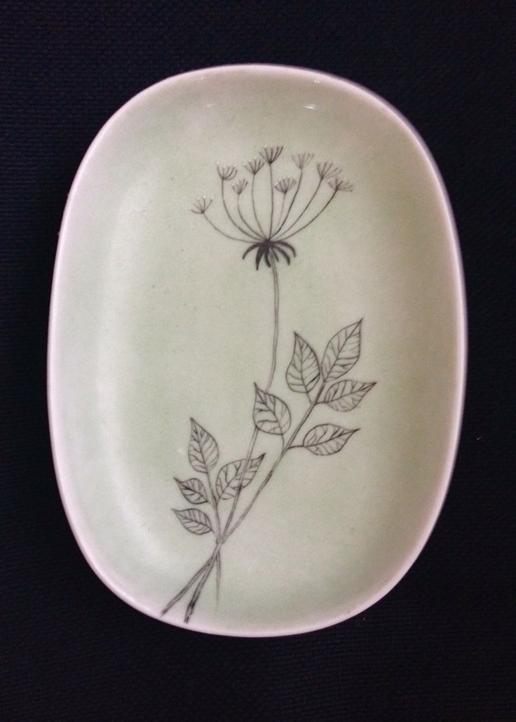 Small bowl, hand painted, Finland 1957.