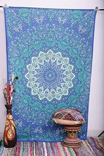 Labhanshi Twin Star Moon Mandala Tapestries, Bohemian wall Hanging, tapestries, Mandala tapestries, Psychedelic Tapestry, Twin Hippie Star Tapestries