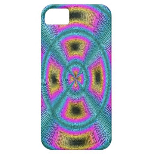 Abstract trendy circle square pattern iPhone 5 cover
