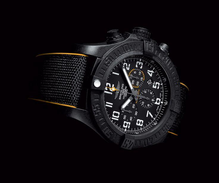 Breitling Avenger Hurricane 12-Hour Black Dial - reclining