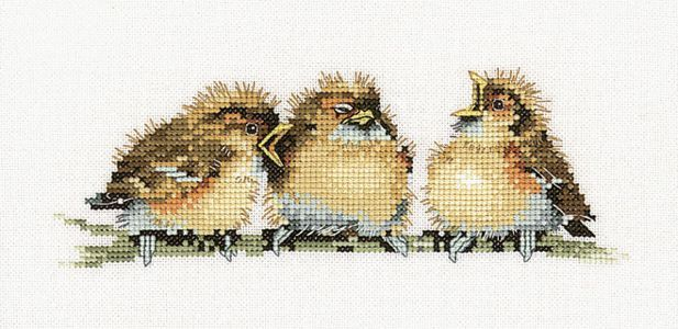 Three's A Crowd Cross Stitch Pattern Valerie Pfieffer