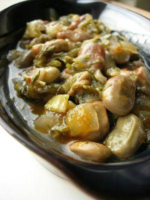 Almost Turkish Recipes: Fava Beans à la Turque (Zeytinyağlı İç Bakla)