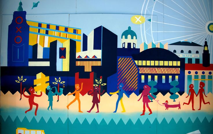 South Bank London Mural - Animaux Circus
