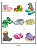 Thema schoenen voor kleuters, schoenenlotto / Shoes Theme Activities for Preschool PreK and Kindergarten