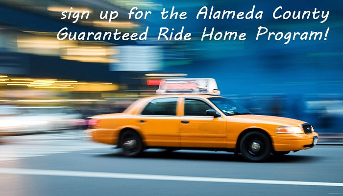 Want to use alternative transport more often but are concerned with how to get home in an emergency? Sign up for Alameda's guaranteed ride home: http://grh.alamedactc.org/