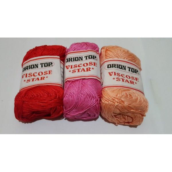 Rayon Viscose Star Bahan: 100% Rayon Berat: 60 g Ketebalan: super fine Fast Color Hand Knitting Yarn   Jarum Crochet: 3 - 4mm  http://www.dbest-craft.com/benang-lokal/112-rayon-viscose-polos.html