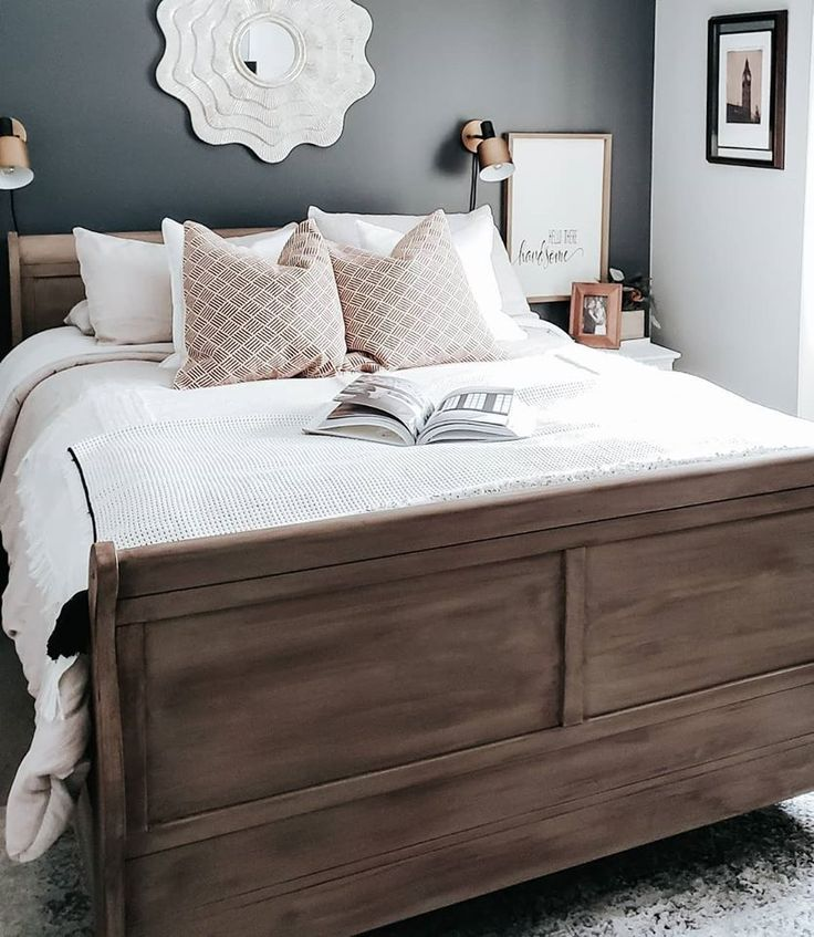 Chalk Style All In One Paint   Driftwood   Sleigh bed ...