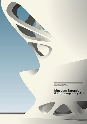 Another from the series  Konstruktive: Architectural Posters - another great example!