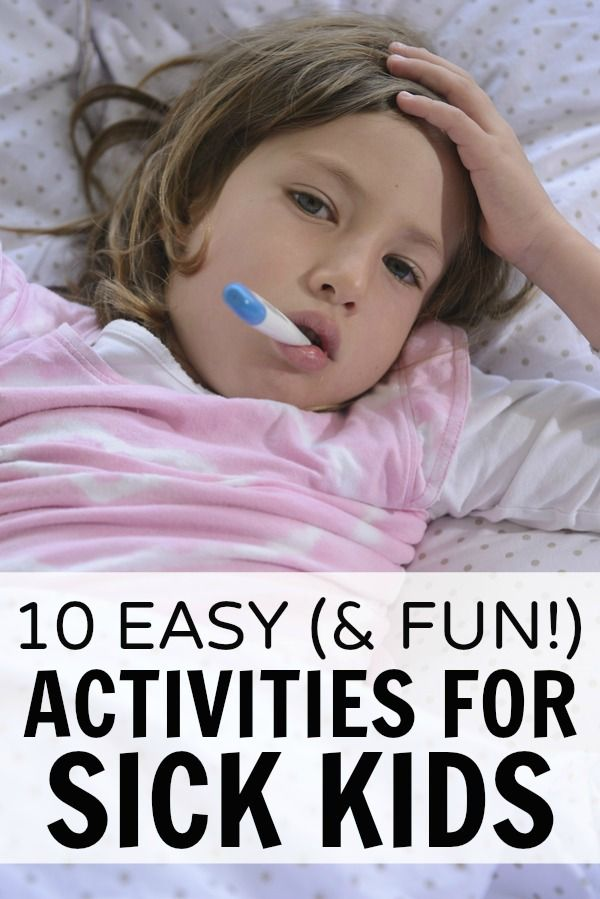 With cold and flu season just around the corner  this list of 10 easy  and fun   activities for sick kids is a MUST HAVE for moms and dads everywhere