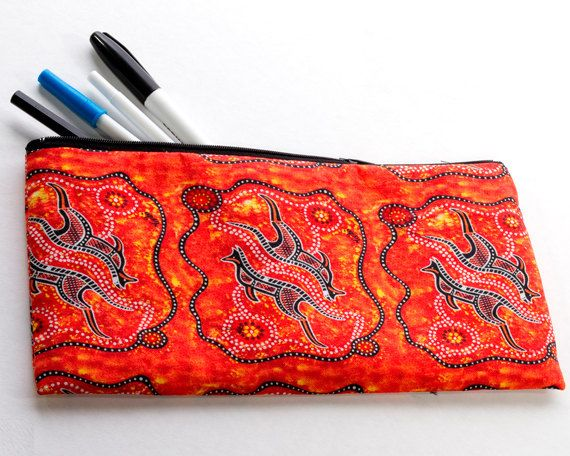 Australian Aboriginal Art Pencil Case by AboriginalOzArt on Etsy