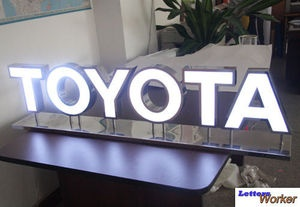 Custom Exterior Signs Illuminated Channel Letters Signboard Banner | eBay