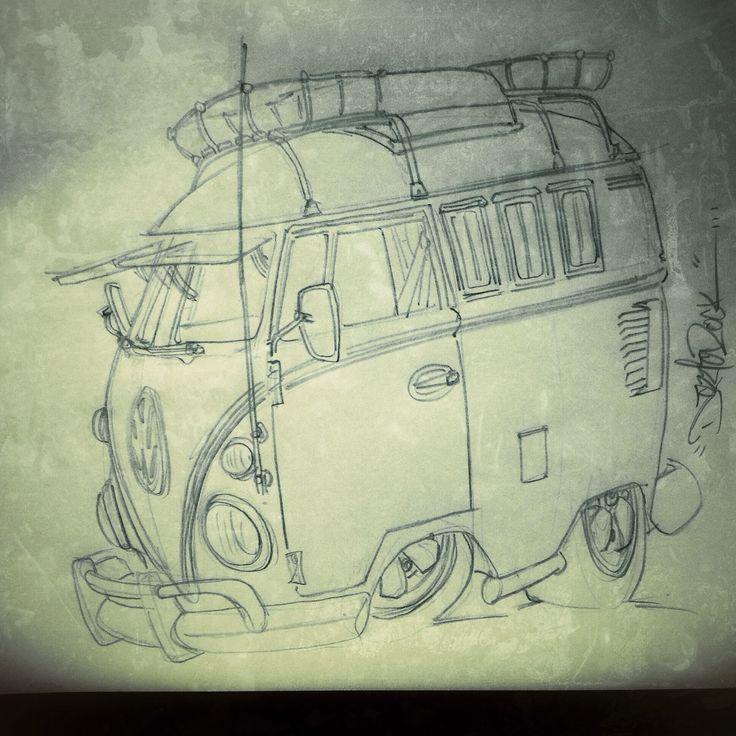 VW splitscreen sketch