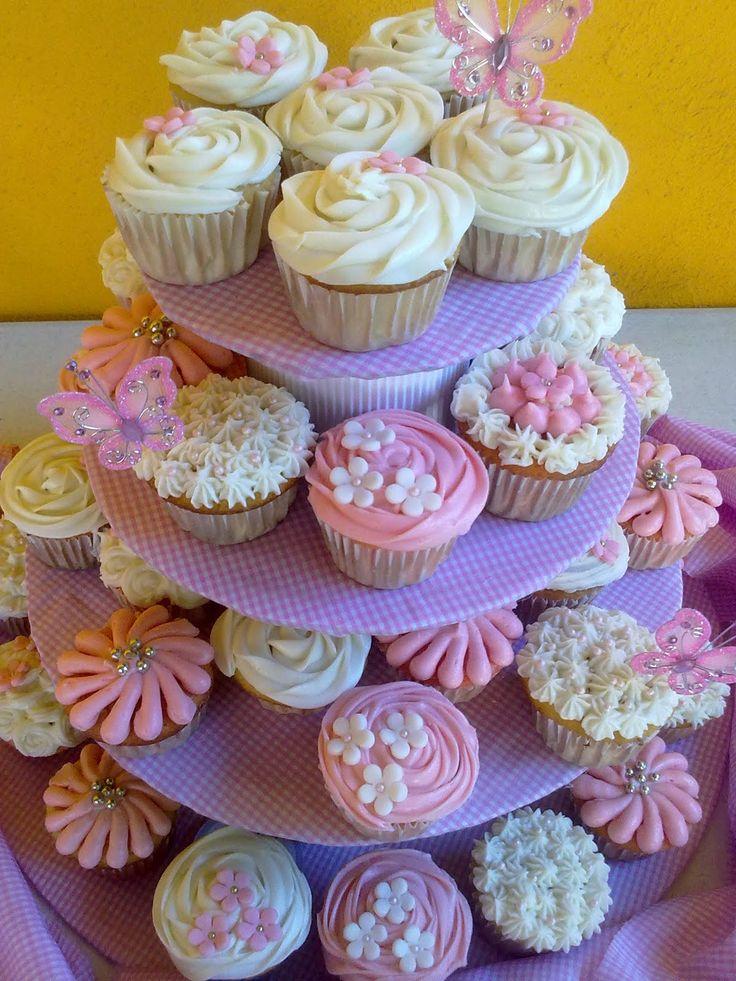 pinterest baby shower cupcakes | Kchelito's Cupcakes: Bautizo Niña