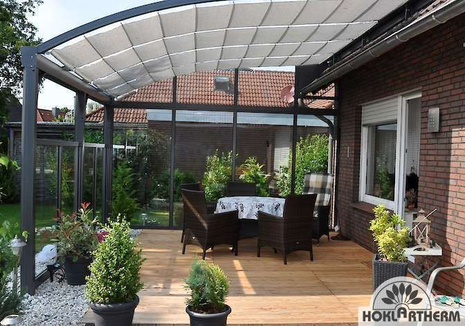 Balkon ideen 2019 – Berlinada Terrassenüberdachung aus Aluminium & Glas kaufen – Tina Federico