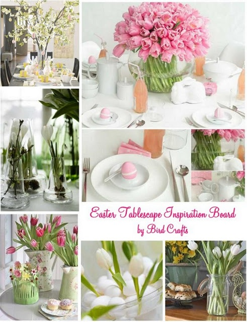 Bird's Party Blog: Easter Tablescape Inspiration Board