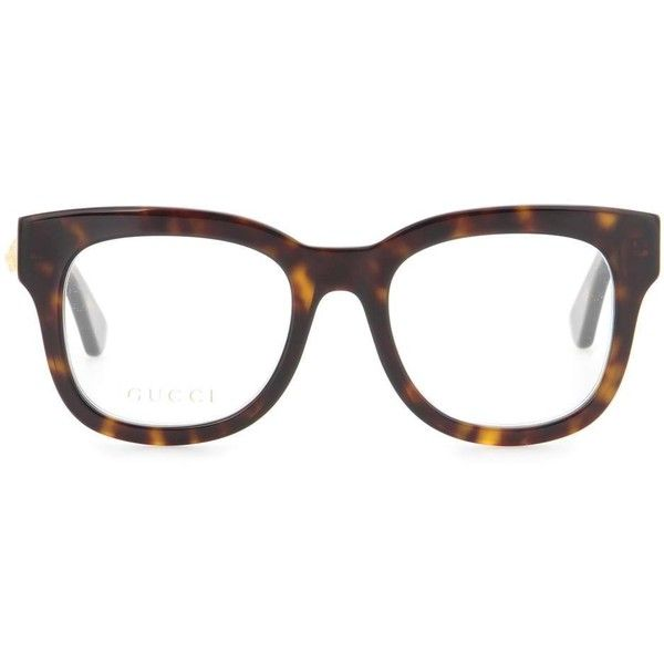 Gucci Square-Frame Acetate Glasses (2 535 SEK) ❤ liked on Polyvore featuring accessories, eyewear, eyeglasses, glasses, brown, acetate eyeglasses, gucci, gucci eye glasses, gucci eyeglasses and square frame glasses