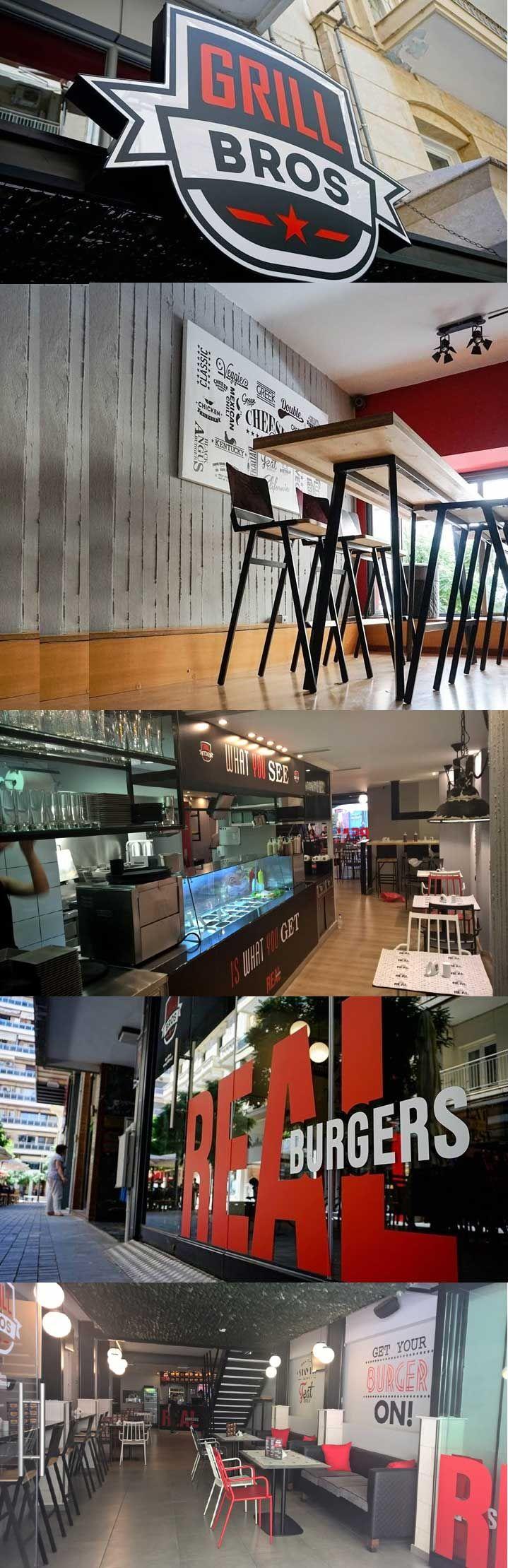 Το νέο κατάστημα GRILL BROS στη Θεσσαλονίκη με τα χορταστικά Big size burger του και με ανανεωμένο στήσιμο καταστήματος.