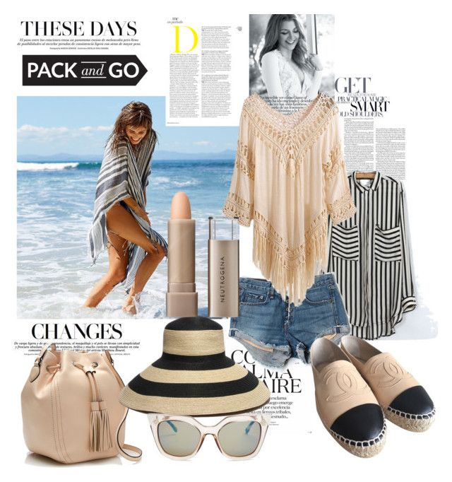 """""""Pack & Go ~ Mexico City"""" by yvettemmh ❤ liked on Polyvore featuring Aerie, rag & bone/JEAN, J.Crew, Gottex, Chanel, Fendi, Neutrogena and Packandgo"""