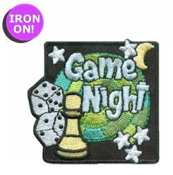 Game Night Girl Scout Fun Patch! Check out MakingFriends.com for more!