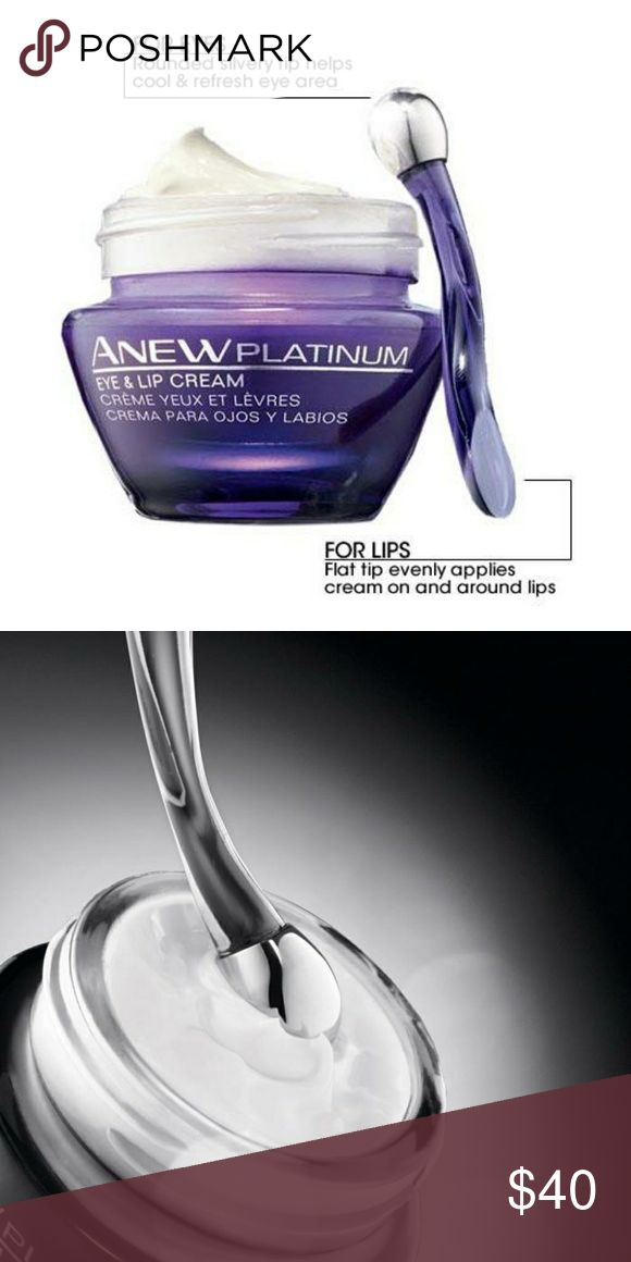 Anew Platinum Eye & Lip Cream Paxillium Technology finally meets eye and lip treatment. Improve the natural Paxillin production of your eyelids and mouth to get defined contours, fuller skin, and a more youthful appearance overall. Special dual-tip applicator unlocks the potential of this dermatologist tested eye and lip cream. The rounded silvery tip cools and refreshes the eye area while the flat tip evenly applies cream on and around lips. 0.5 oz. net wt.? BENEFITS? ? Define contours and…