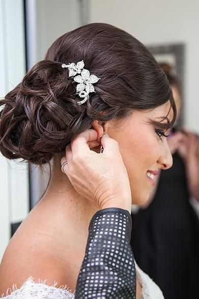Photo maquillage mariage, Coiffure mariage Marseille, chignon de mariée  Marseille, maquillage liban