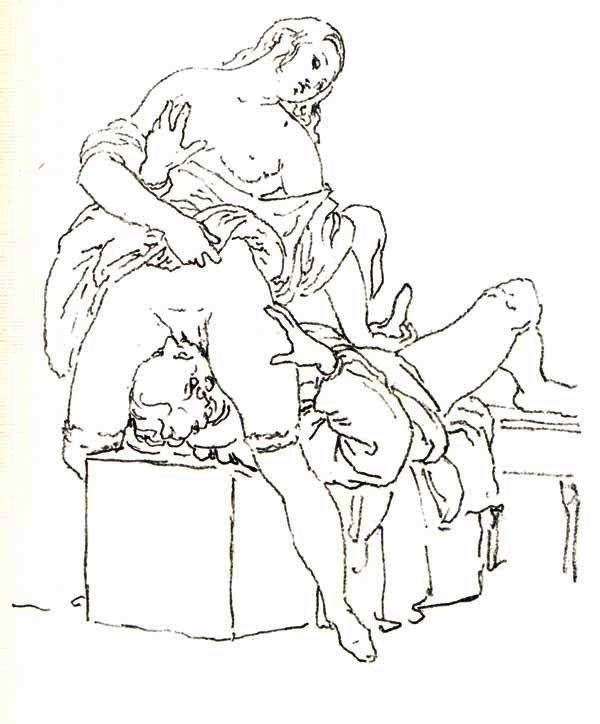 Cunnilingus, or oral sex performed on a woman - Francesco Hayez