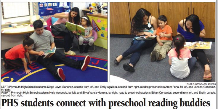 Some of our preschool Jets made today's paper! Make sure you check out the back page of today's Pilot News! Correspondent Carol Anders wrote a nice story about Mrs. Carolina Figueroa's preschool class and Plymouth High School's English as a second language students.  #PCSCweCARE