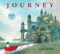 Using a red marker, a young girl draws a door on her bedroom wall and through it enters another world where she experiences many adventures, including being captured by an evil emperor. Story and illustrations by Aaron Becker.