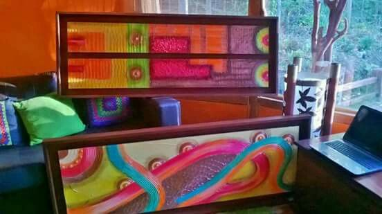 Viste tus paredes con color. Cuadros realizados por Paty Mera. PUCON.